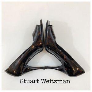 Stuart Weitzman Animal Print Patent Heels